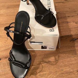 Banana Republic black strappy sandal. Size 9 1/2.